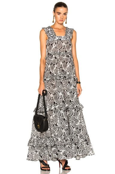 Dodo Bar Or Kat Dress in Black & White Paisley