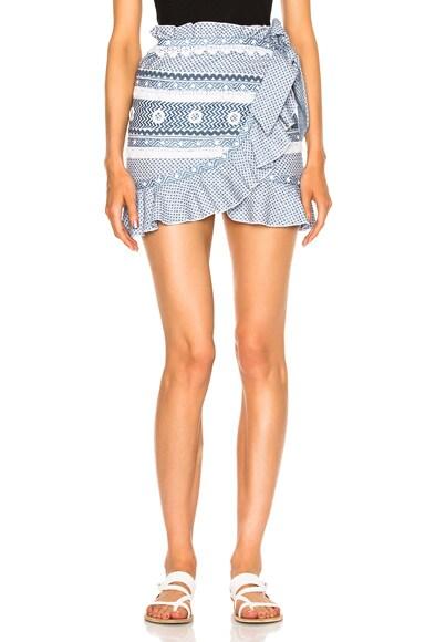 Dodo Bar Or Abigail Skirt in Blue & White