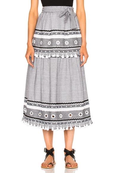 Dodo Bar Or Ataliya Skirt in Black & White