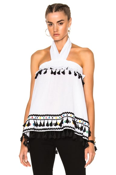 Dodo Bar Or Neomi Top in White Colorful