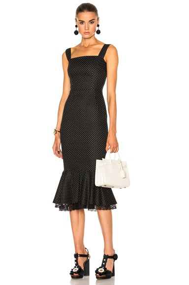 Dolce & Gabbana Sleeveless Midi Dress in Black