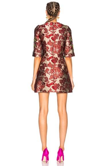 Floral Jacquard Embellished Mini Dress