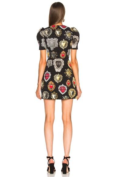 Brocade Printed Mini Dress