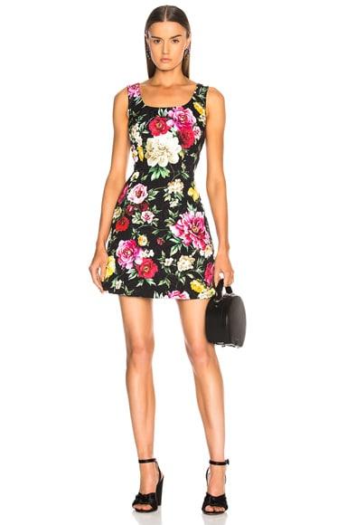 Brocade Floral Mini Dress