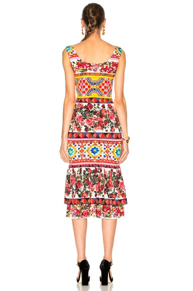 Charmeuse Printed Dress