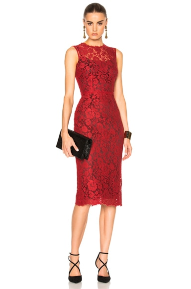 Dolce & Gabbana Macrame Dress in Red