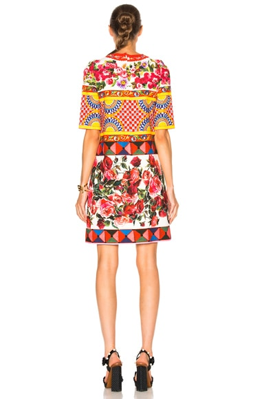 Printed Textured Cotton Dress