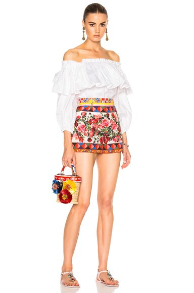 Printed Poplin Shorts