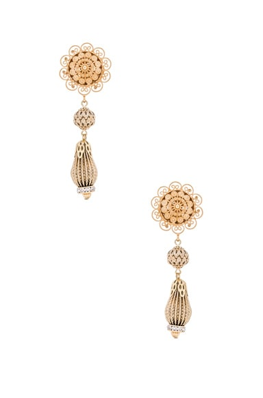 Dolce & Gabbana Chandelier Earrings in Gold