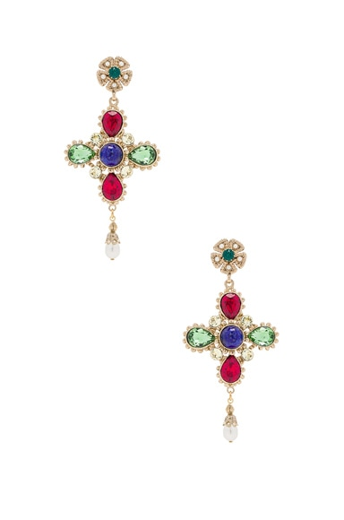 Dolce & Gabbana Cross Earrings in Multi