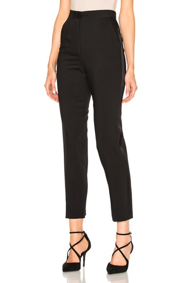 Dolce & Gabbana Wool Crepe Trousers in Black