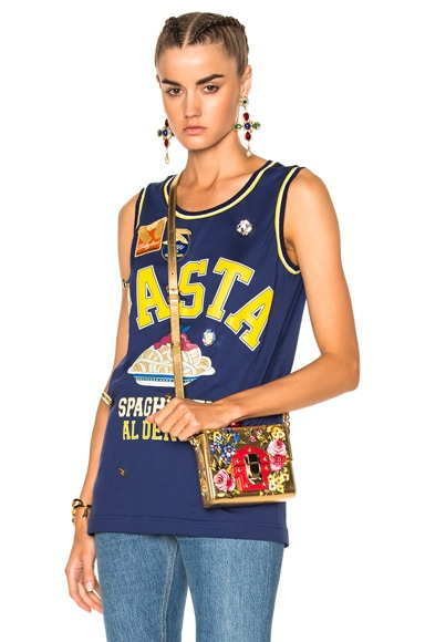 Dolce & Gabbana Pasta Tank Top in Cobalt Blue