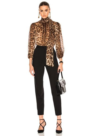 Chiffon Leopard Print Blouse
