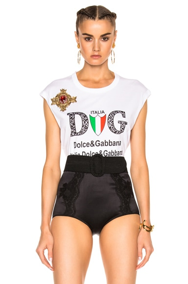 Dolce & Gabbana Graphic Tee in Black & White