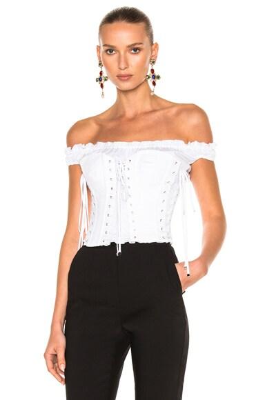 Dolce & Gabbana Corset Top in White