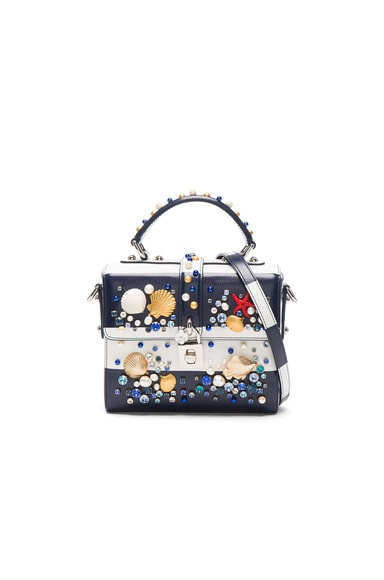 Dolce & Gabbana Top Handle Bag in Blue Stripe