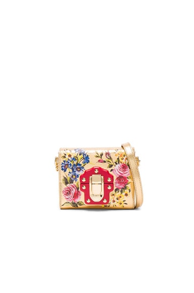 Dolce & Gabbana Soft Square Bag in Gold & Multicolor