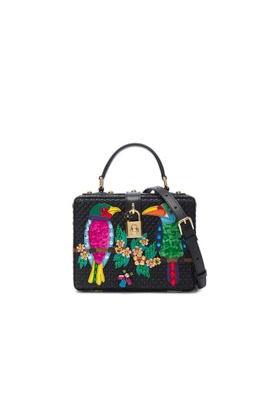 Dolce & Gabbana Top Handle Bag in Black Multi