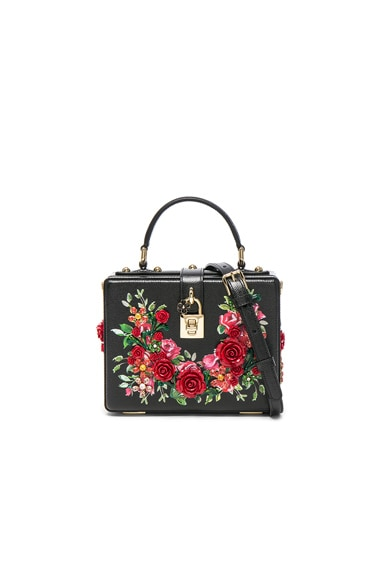 Dolce & Gabbana Studded Soft Bag in Black & Red