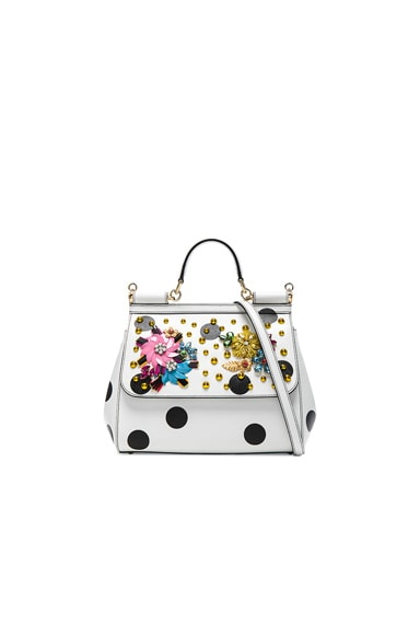 Dolce & Gabbana Medium Sicily Bag in White