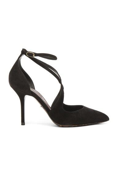 Dolce & Gabbana Strappy Suede Belucci Heels in Black
