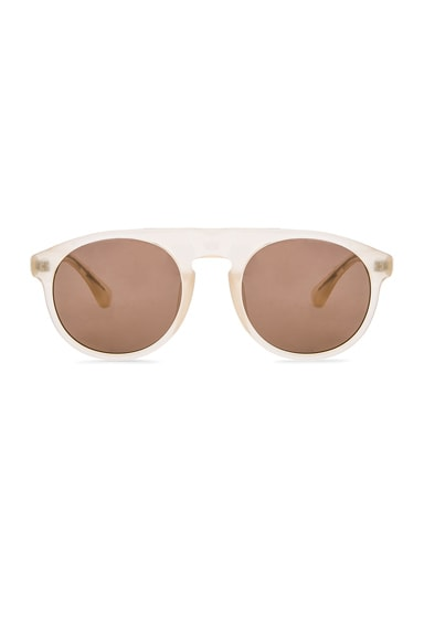 Dries Van Noten Flap Top Sunglasses in Beige