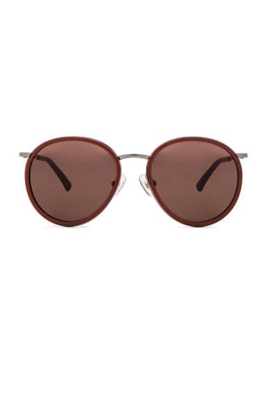 Dries Van Noten Oval Sunglasses in Brick
