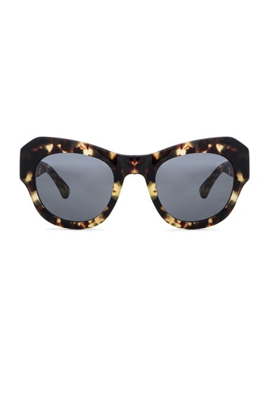 Dries Van Noten Angular Sunglasses in Darl Shell