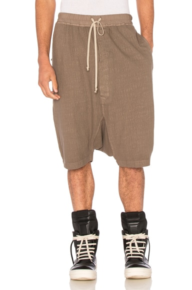 DRKSHDW by Rick Owens Pod Shorts in DNA Dust