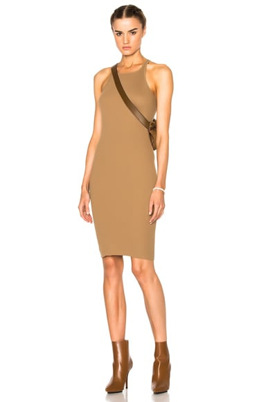 DRKSHDW by Rick Owens Rib Tank Dress in Camel