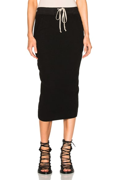 DRKSHDW by Rick Owens Soft Short Pillar Skirt in Black