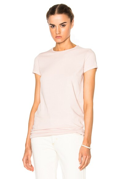 DRKSHDW by Rick Owens Level Tee in Rose