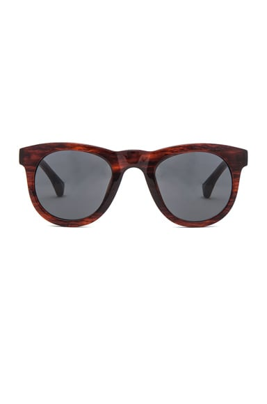Dries Van Noten Sunglasses in Maroon Horn