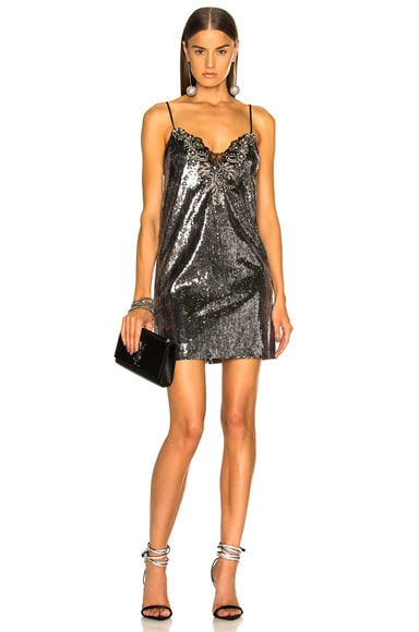 Sequin Embroidered Slip Dress