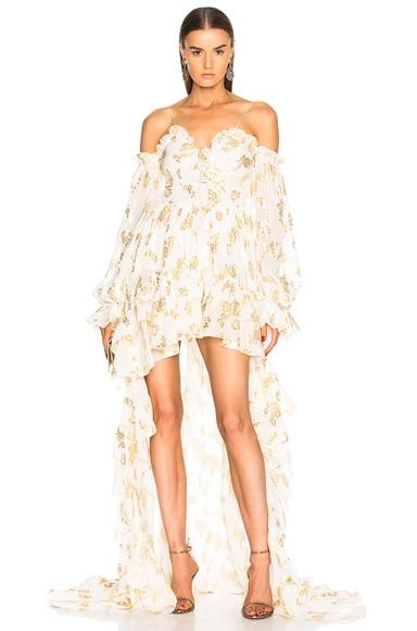 Asymmetric Ruffle Hem Dress