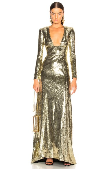Open Back Sequin Gown
