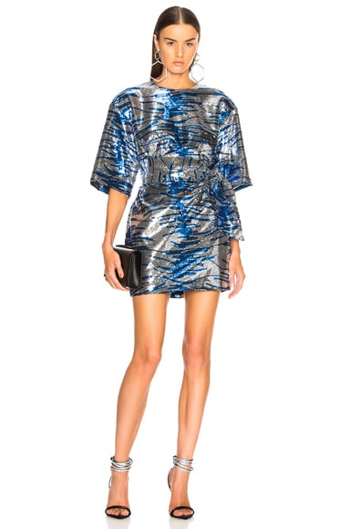 Tiger Stripe Sequin Mini Dress
