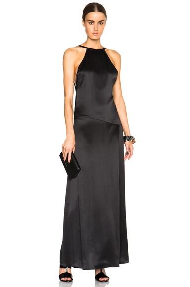EACH x OTHER Open Back Tank Dress in Black