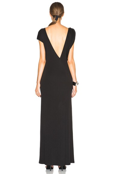 Asymmetric V-Neck Dress