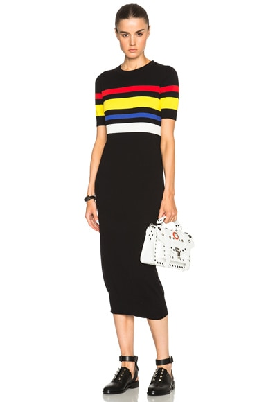 EACH x OTHER Colored Stripe Dress in Black