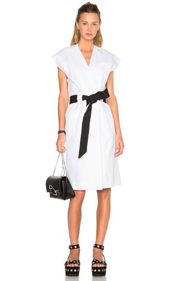 EACH x OTHER Sleeveless Kimono Dress in White