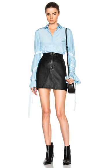 Belted Bell Sleeve Top