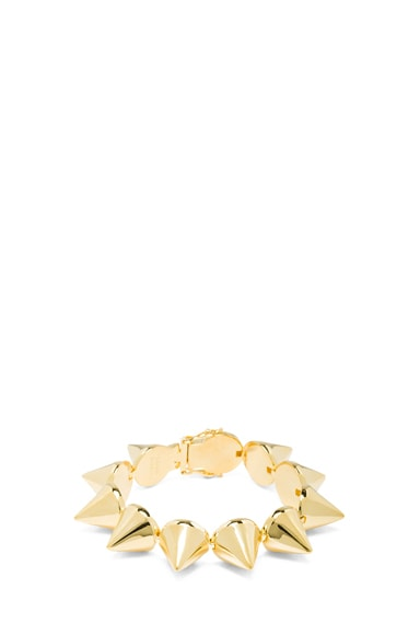 Plated Brass Cone Bracelet