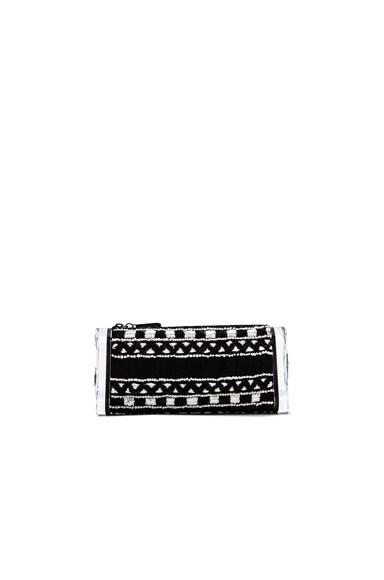 Edie Parker Soft Lara Embroidery Clutch in Black Multi