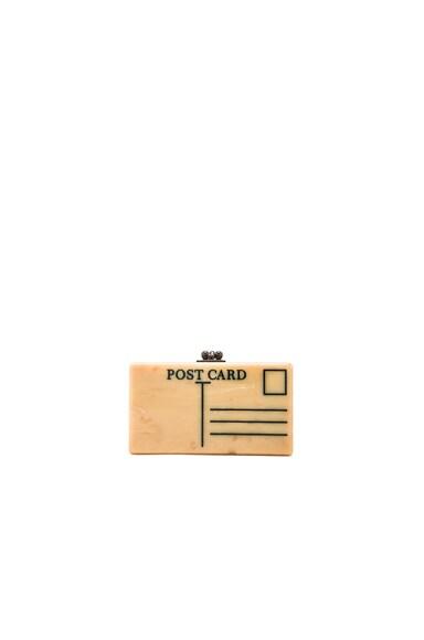Edie Parker Jean Postal Clutch in Teastain
