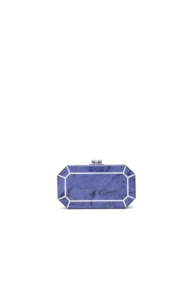 Edie Parker Fiona Faceted Clutch in Blue Violet