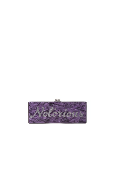 Edie Parker Flavia Notorious Clutch in Dark Purple