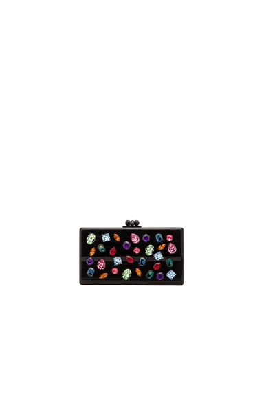 Edie Parker Jean Jewell Clutch in Black Multi