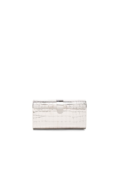 Rebekah Croc Clutch
