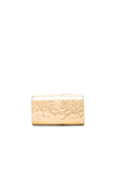 Edie Parker Rebekah Giraffe Clutch in Gold